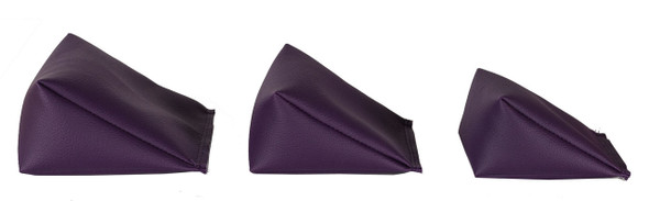 Wedge Rice Bag with Eggplant Vinyl