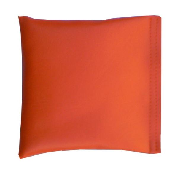 Square Rice Bag in Orange Vinyl