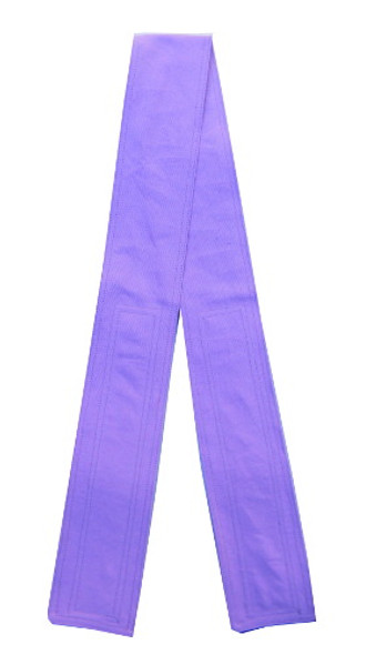 Lavender Cotton Fabric Belt with Velcro Closure - Narrow