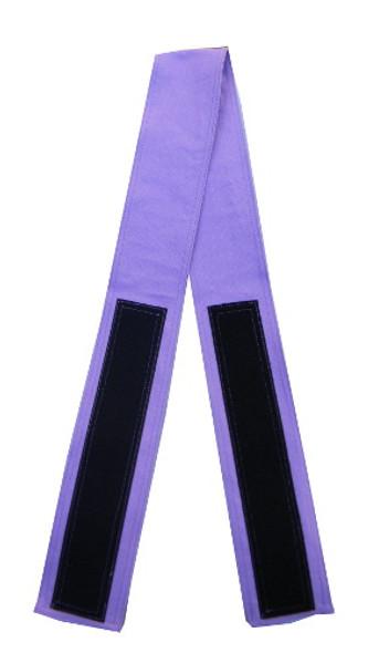 Lavender Cotton Fabric Belt with Velcro Closure - Narrow