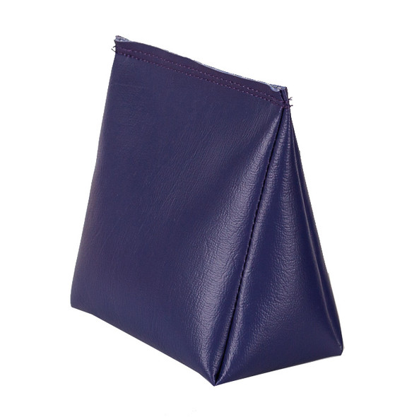 Wedge Rice Bag with Purple Vinyl and Rice