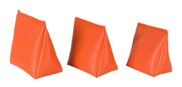 Wedge Rice Bag with Orange Vinyl