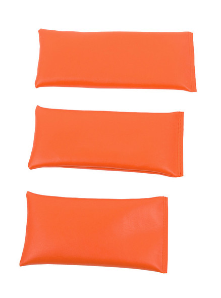 Rectangular Rice Bag with Orange Vinyl