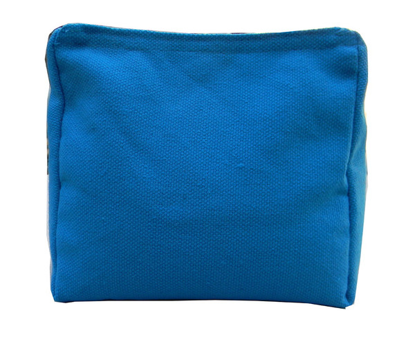 Wedge Rice Bag with Turquoise Cotton Fabric