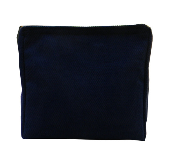 Wedge Rice Bag with Navy Blue Cotton Fabric