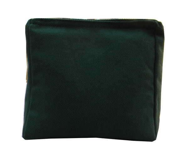 Wedge Rice Bag with Light Hunter Green Cotton Fabric