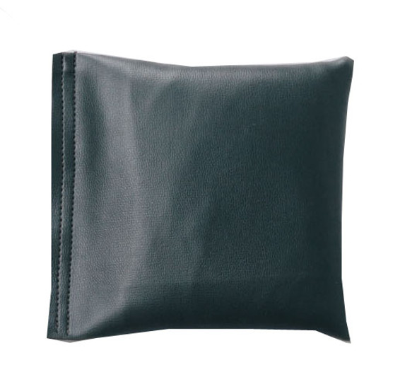 Square Rice Bag in Dark Gray Vinyl