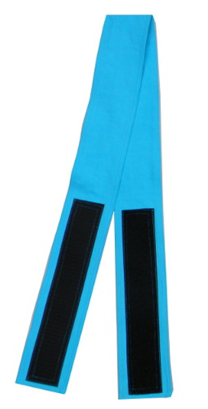 Sky Blue Cotton Fabric Belt with Velcro Closure - Narrow