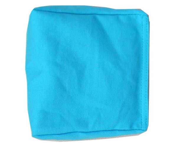 Wedge Rice Bag with Sky Blue Cotton and Rice
