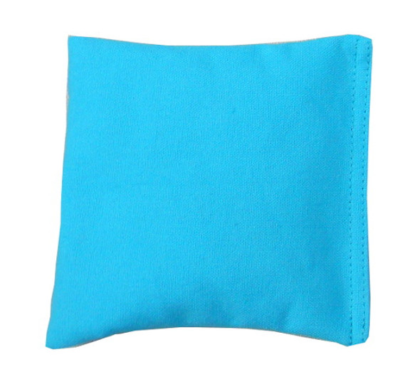 Square Rice Bag in Cotton Fabric - Sky Blue