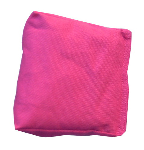 Wedge Rice Bag with Fuchsia Cotton Fabric and Rice