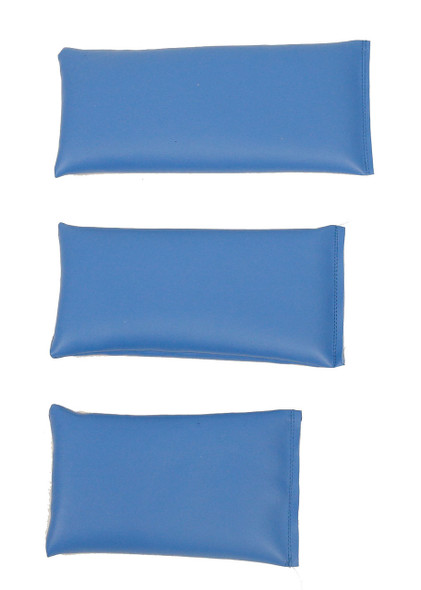 Rectangular Rice Bag with Baby Blue Vinyl