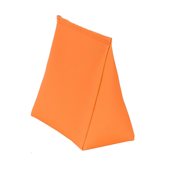 Wedge Rice Bag with Neon Orange Vinyl