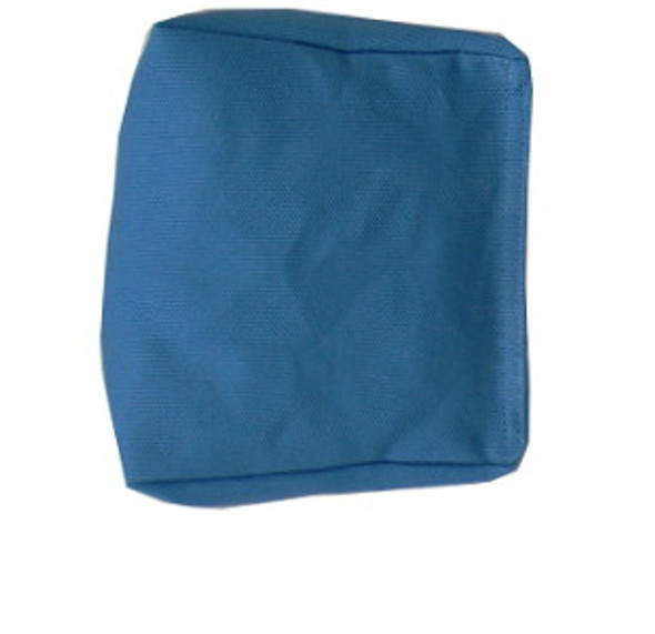 Wedge Rice Bag with Teal Cotton Fabric