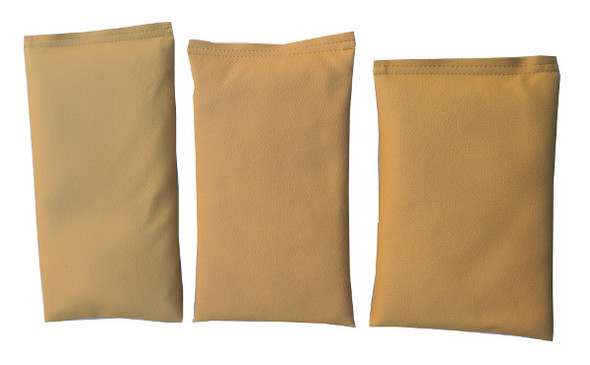 Rectangular Rice Bag with Khaki Vinyl