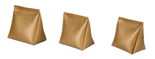 Wedge Rice Bag with Metallic Gold Vinyl and Rice