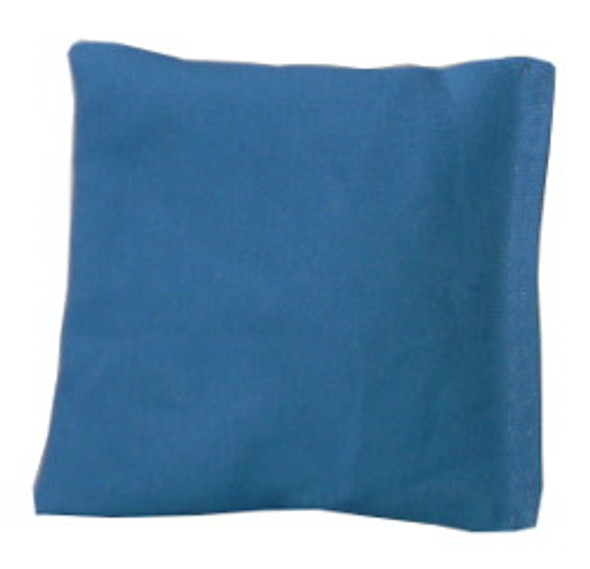 Teal Blue Square Rice Bag in Cotton Fabric