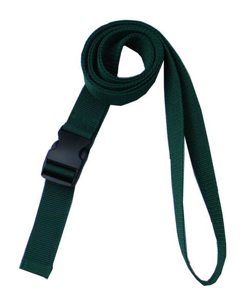 1.5 Inches Wide Hunter Green Traction Belt with Fast Release Buckle (8 Ft - 12 Ft Long)