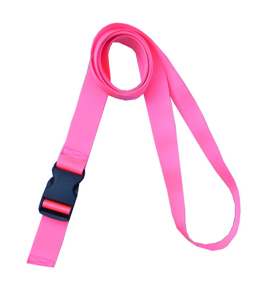 1.5 Inches Wide Neon Pink Traction Belt with Fast Release Buckle (8 Ft - 12 Ft Long)