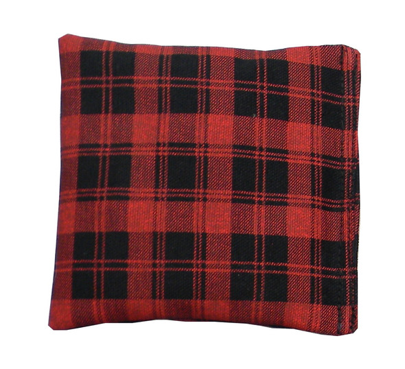 Red and Black Checkers Print Square Rice Bag in Cotton Fabric