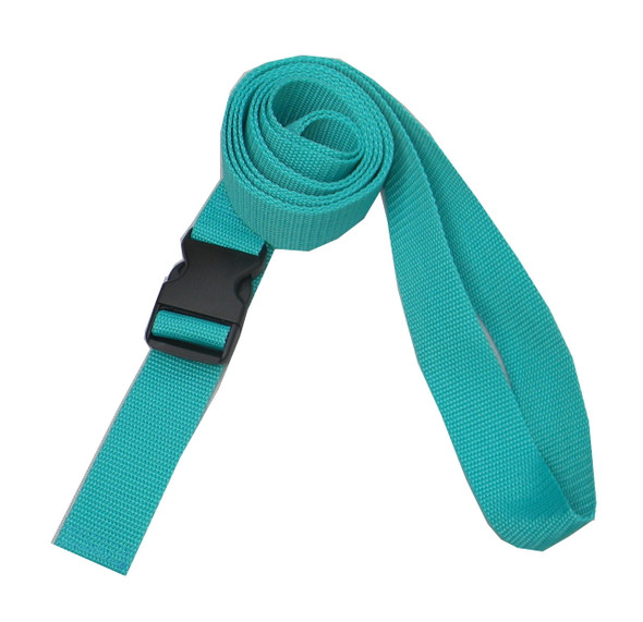1.5 Inches Wide Teal Traction Belt with Fast Release Buckle (8 Ft - 12 Ft Long)