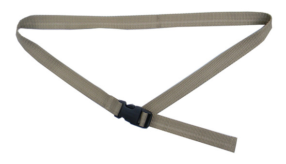 Khaki Belt with 1 Inches Wide Webbing (from 34 Inches to 60 Inches)