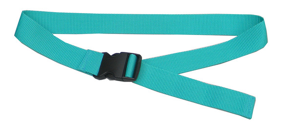 Teal Belt with 1.5 Inches Wide Webbing (from 34 Inches to 60 Inches)