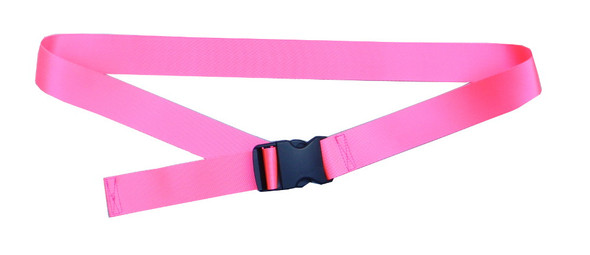 Neon Pink Belt with 1.5 Inches Wide Webbing (from 34 Inches to 60 Inches)