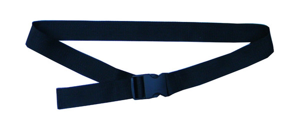 Black Waist Belt with 1.5 Inches Wide Webbing