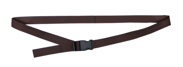 Dark Brown Waist Belt with 1 Inches Wide Webbing