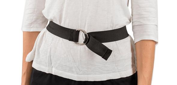 Black Elastic Straps with D-Ring Closure