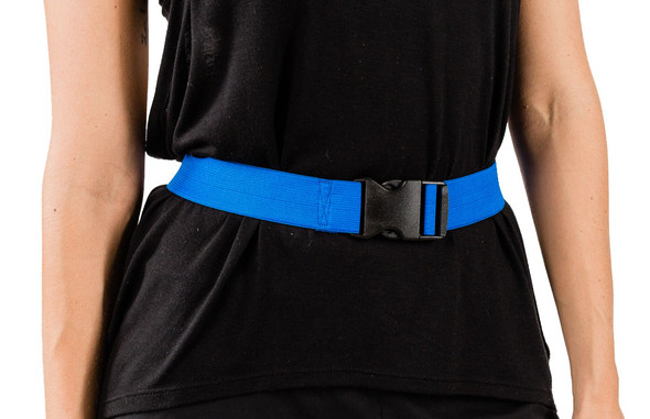 Blue Elastic Strap with Buckle