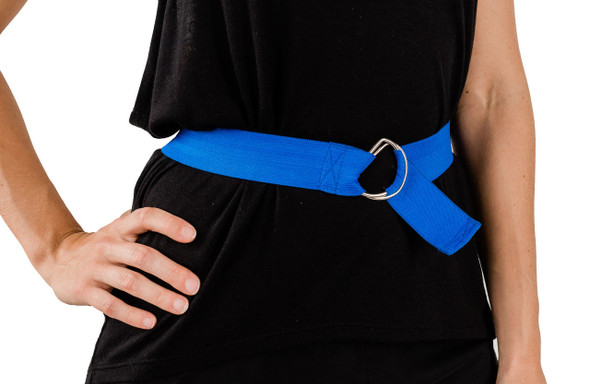 Blue Elastic Strap with D-Ring