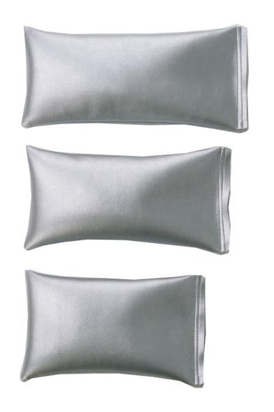 Rectangular Rice Bag with Silver Vinyl