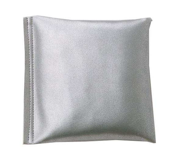 Square Rice Bag in Silver Vinyl