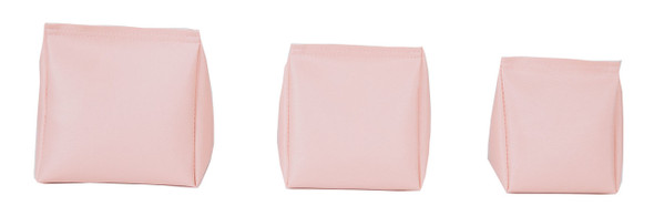 Wedge Rice Bag with Light Pink Vinyl
