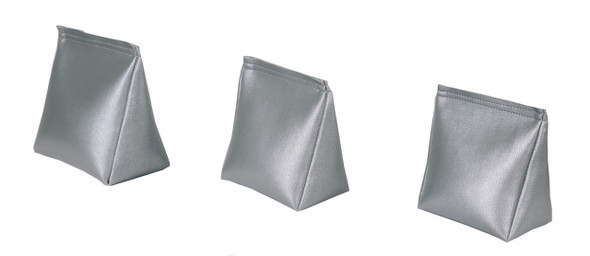 Wedge Rice Bag with Silver Vinyl