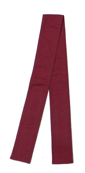 Maroon Fabric Belt with Hook and Loop Closure (3 inches wide)