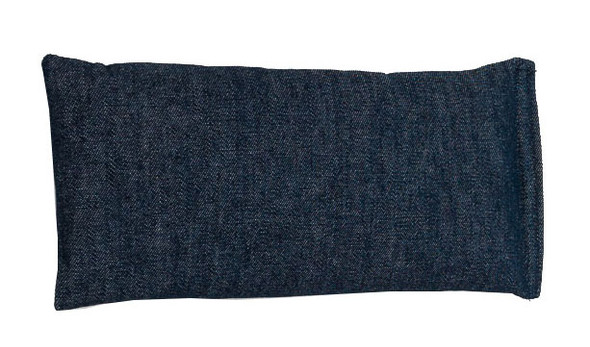 Rectangular Rice Bag with Denim Blue Cotton Fabric