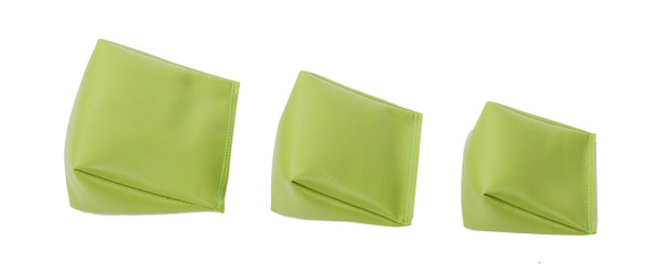 Wedge Rice Bag with Apple Green Vinyl