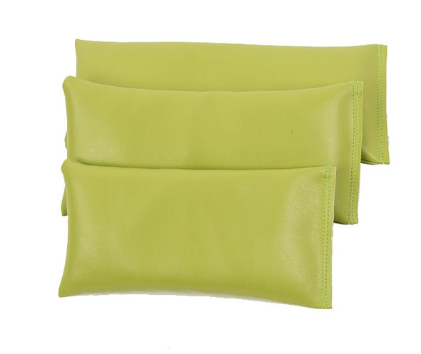 Rectangular Rice Bag with Apple Green Vinyl