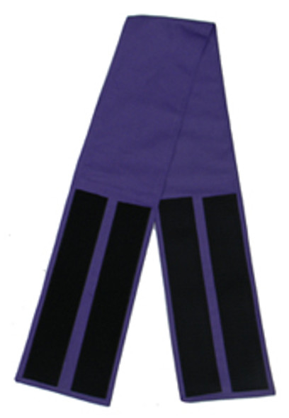 Purple Velcro Fabric Belts - 5 Inches
