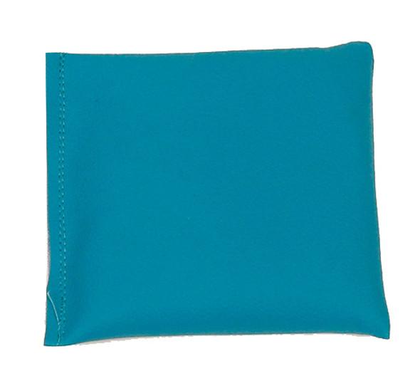 Square Rice Bag in Teal Vinyl (Soft)