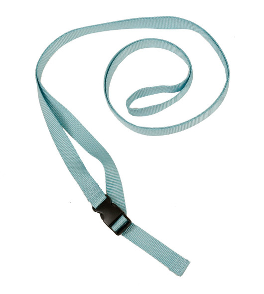 1 Inch Wide Light Blue Traction Belt with Fast Release Buckle (8 Ft - 12 Ft Long)