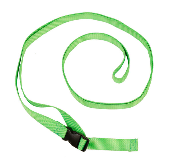 1 Inch Wide Lime Green Traction Belt with Fast Release Buckle