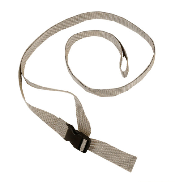 1 Inch Wide Silver Gray Traction Belt with Fast Release Buckle