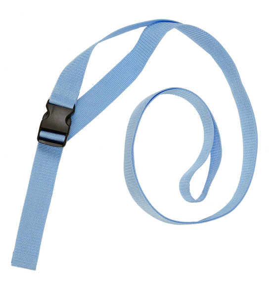 1.5 Inches Wide Ice Blue Traction Belt with Fast Release Buckle