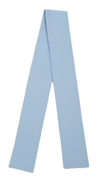 Ice Blue Organic Cotton Belt with Hook and Loop Closure