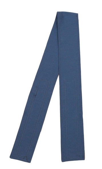 Prussian Blue Cotton Belt with Hook and Loop Closure