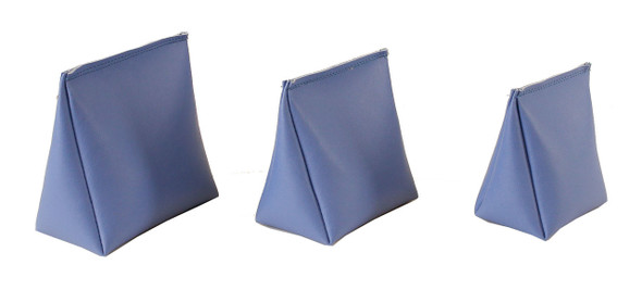 Wedge Rice Bag with Baltic Blue Vinyl